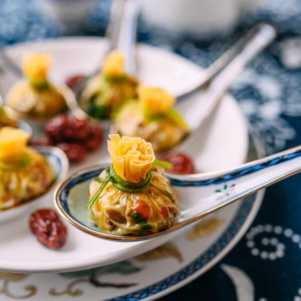 Steamed Money Bag Dumplings for Chinese New Year