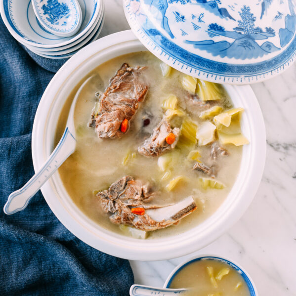 Cantonese Mustard Green Soup with Pork Bones