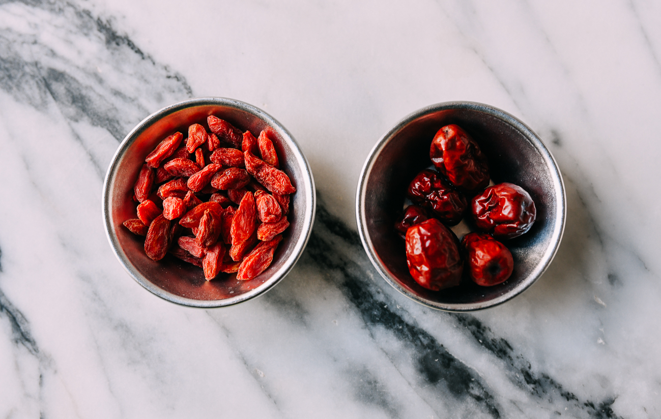 Dried Goji Berries and Dates