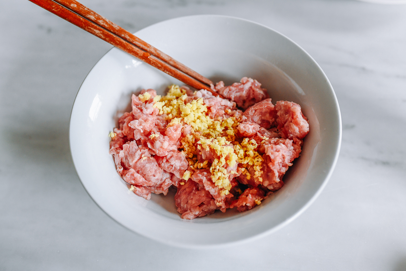 marinating ground pork