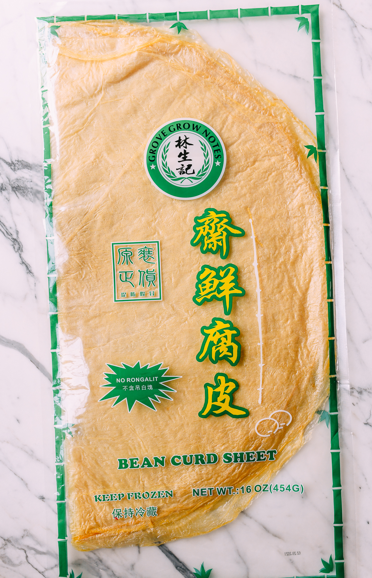 Large Bean Curd Skin Sheets in packaging