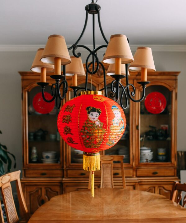 Chinese Lantern in dining room