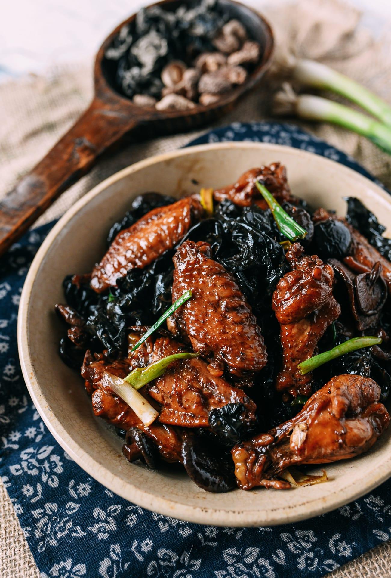 Chinese Braised Chicken and Mushrooms