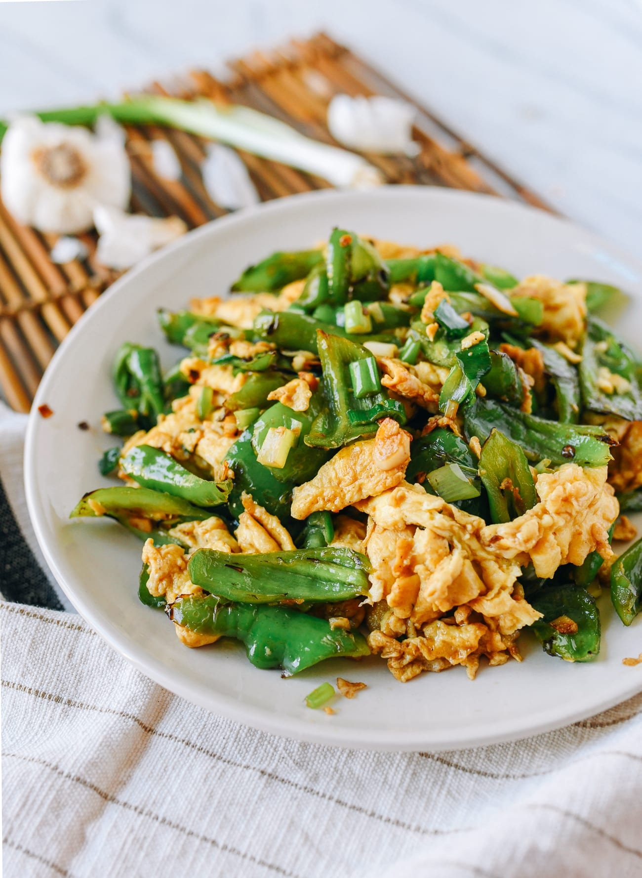 Quick Egg Stir-Fry with Peppers