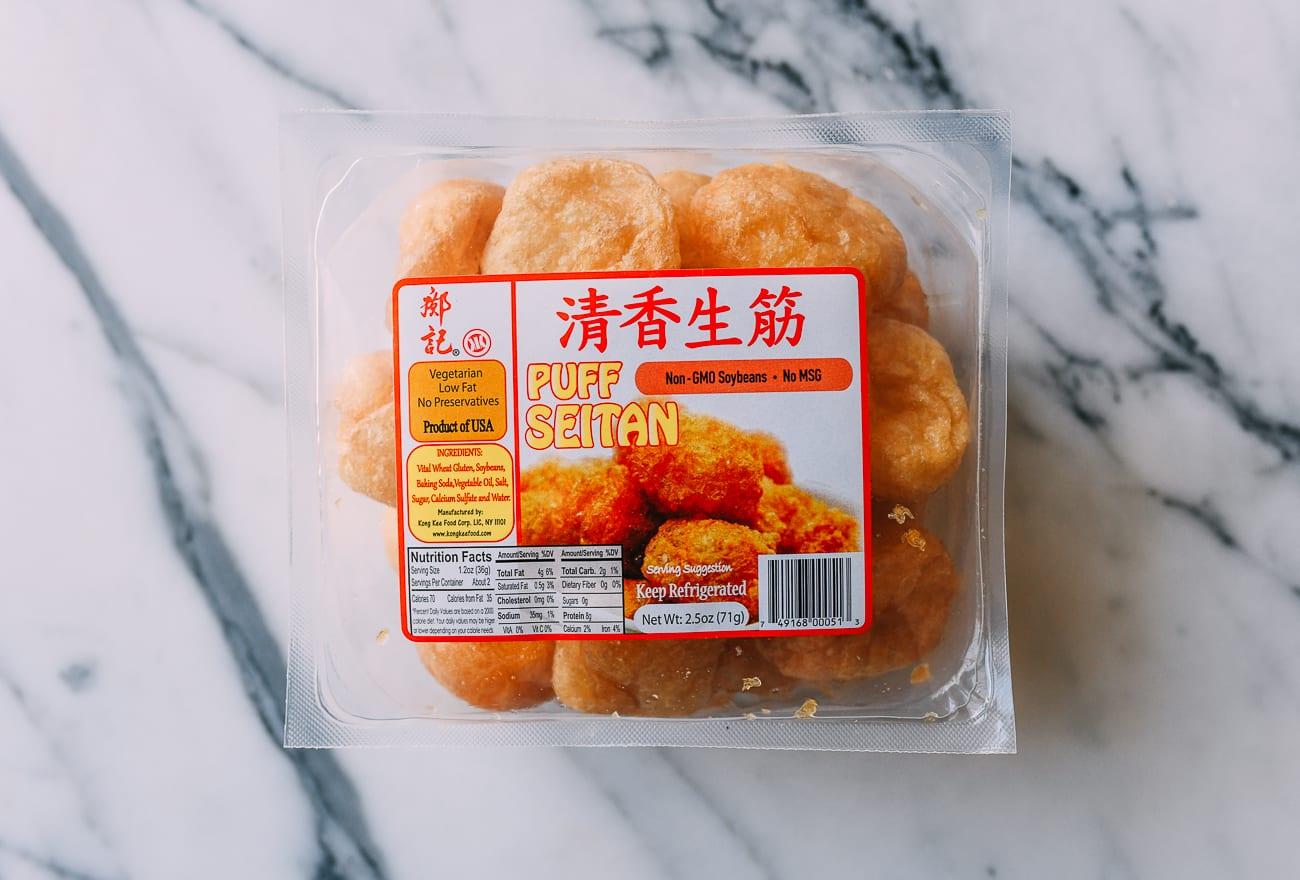 Seitan puffs package