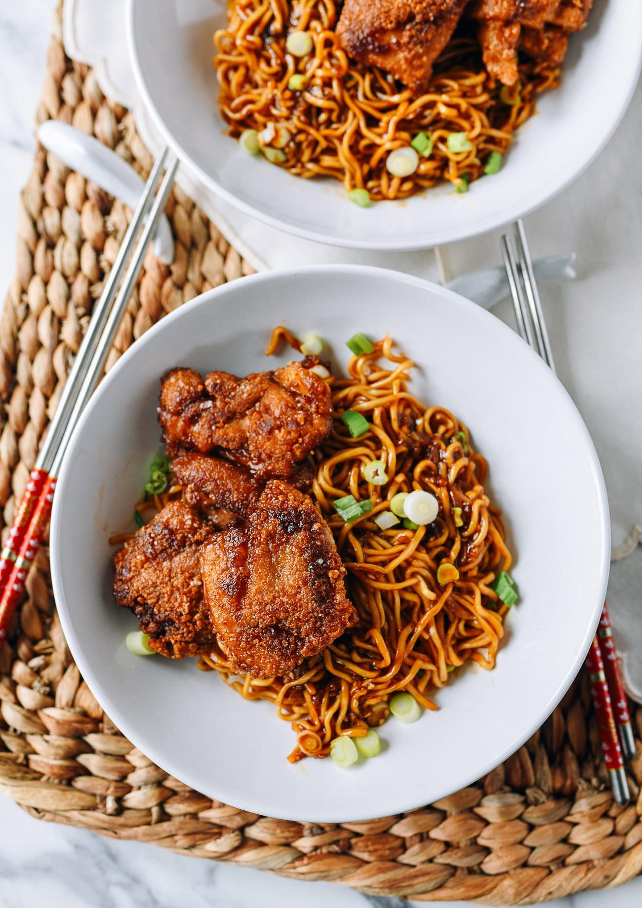 Soy Garlic Chicken Instant Ramen Noodles