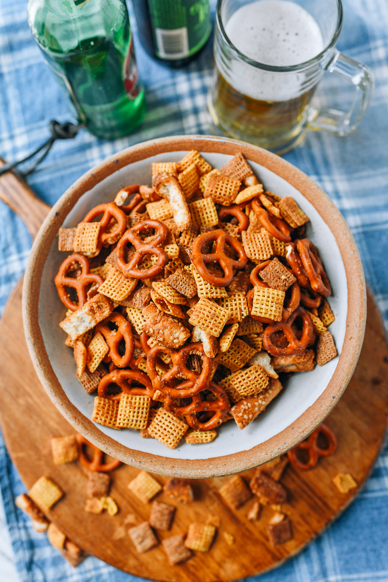 """""""Cheesy"""" Homemade Chex Mix with Fermented Tofu"""