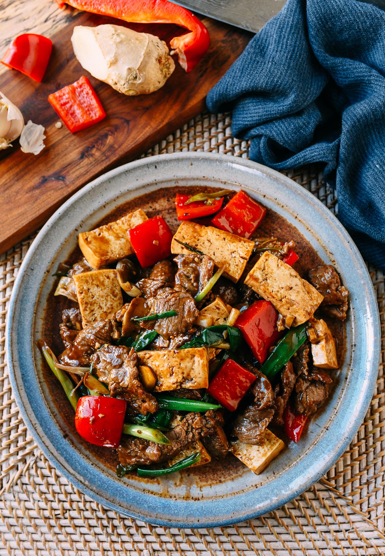 Ginger Scallion Beef and Tofu
