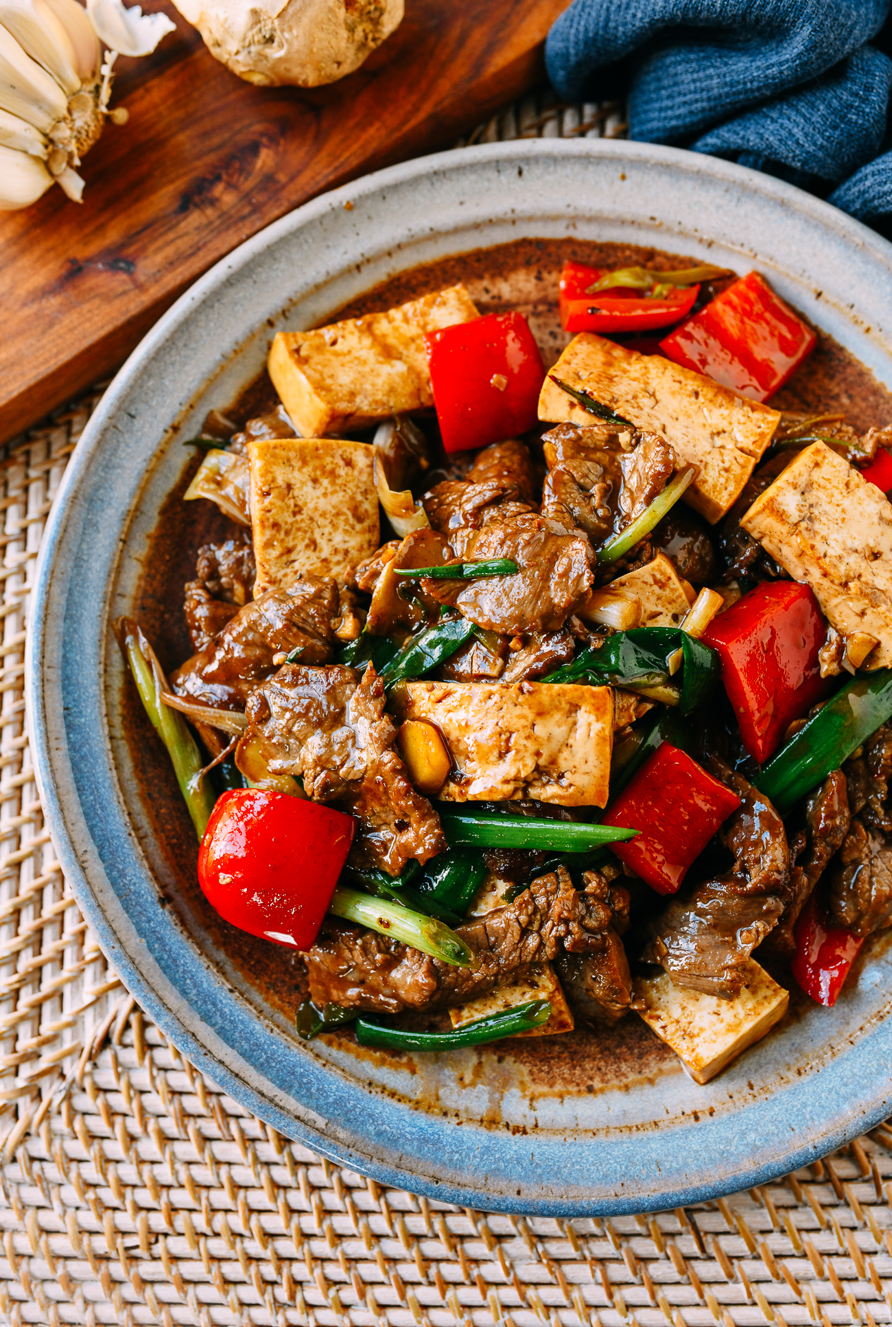 Scallion Ginger Beef & Tofu
