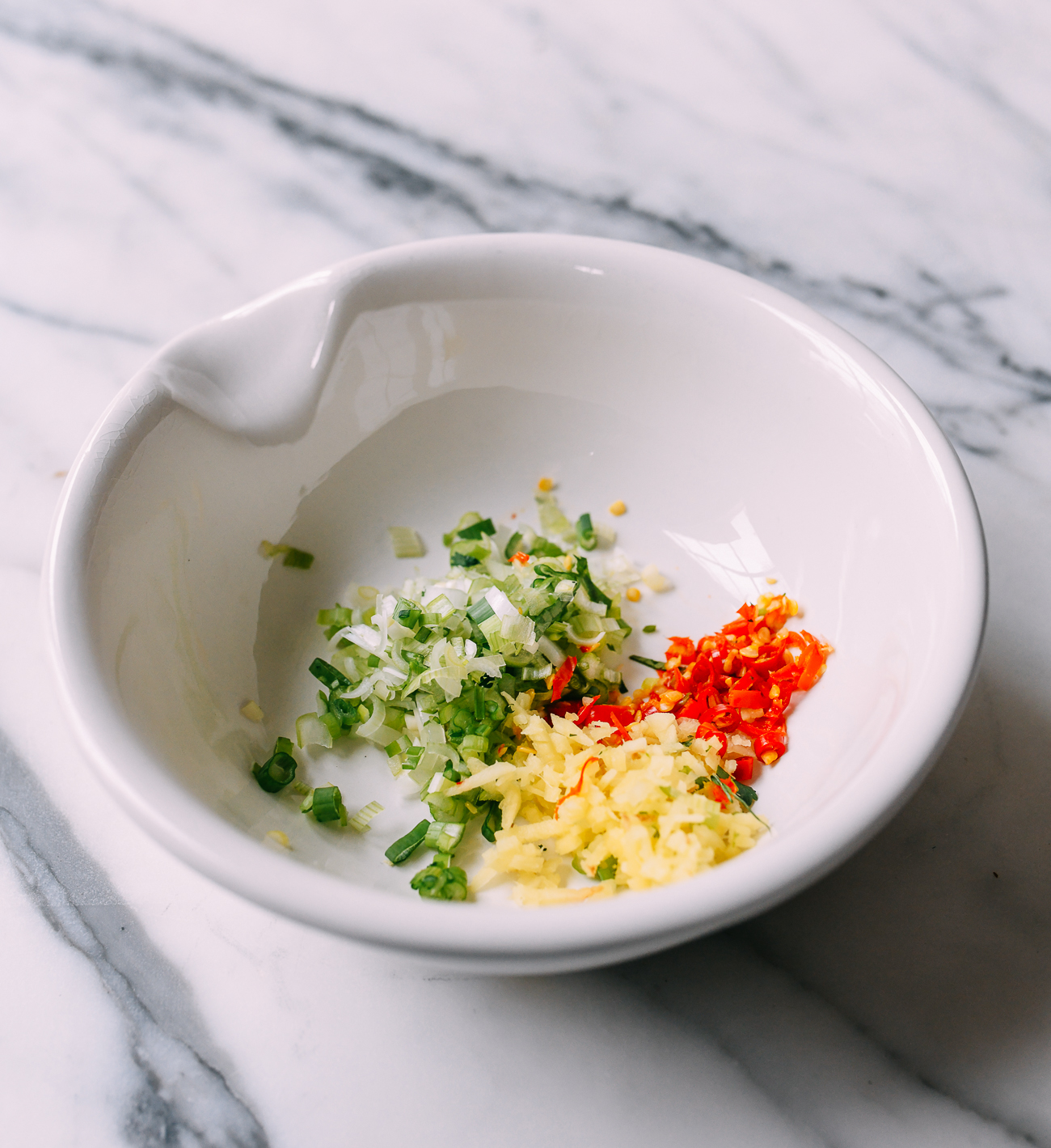 Aromatics in bowl