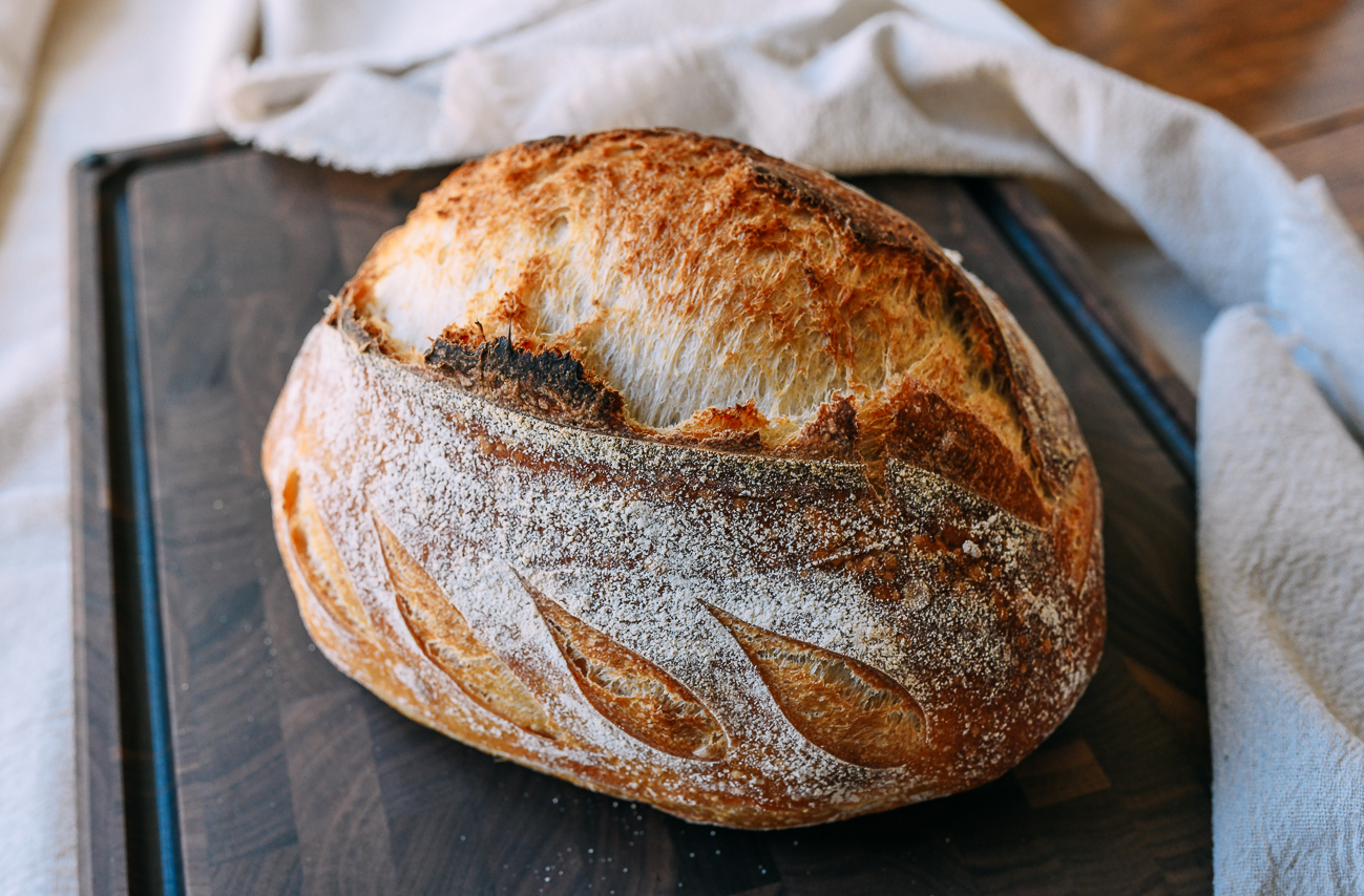 Sourdough loaf made with all white bread flour
