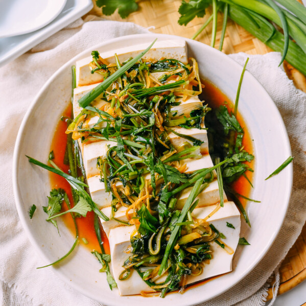 Cantonese-style steamed tofu