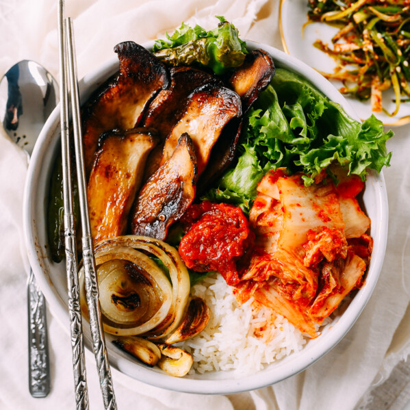 Vegan Korean BBQ Samgyupsal Bowl