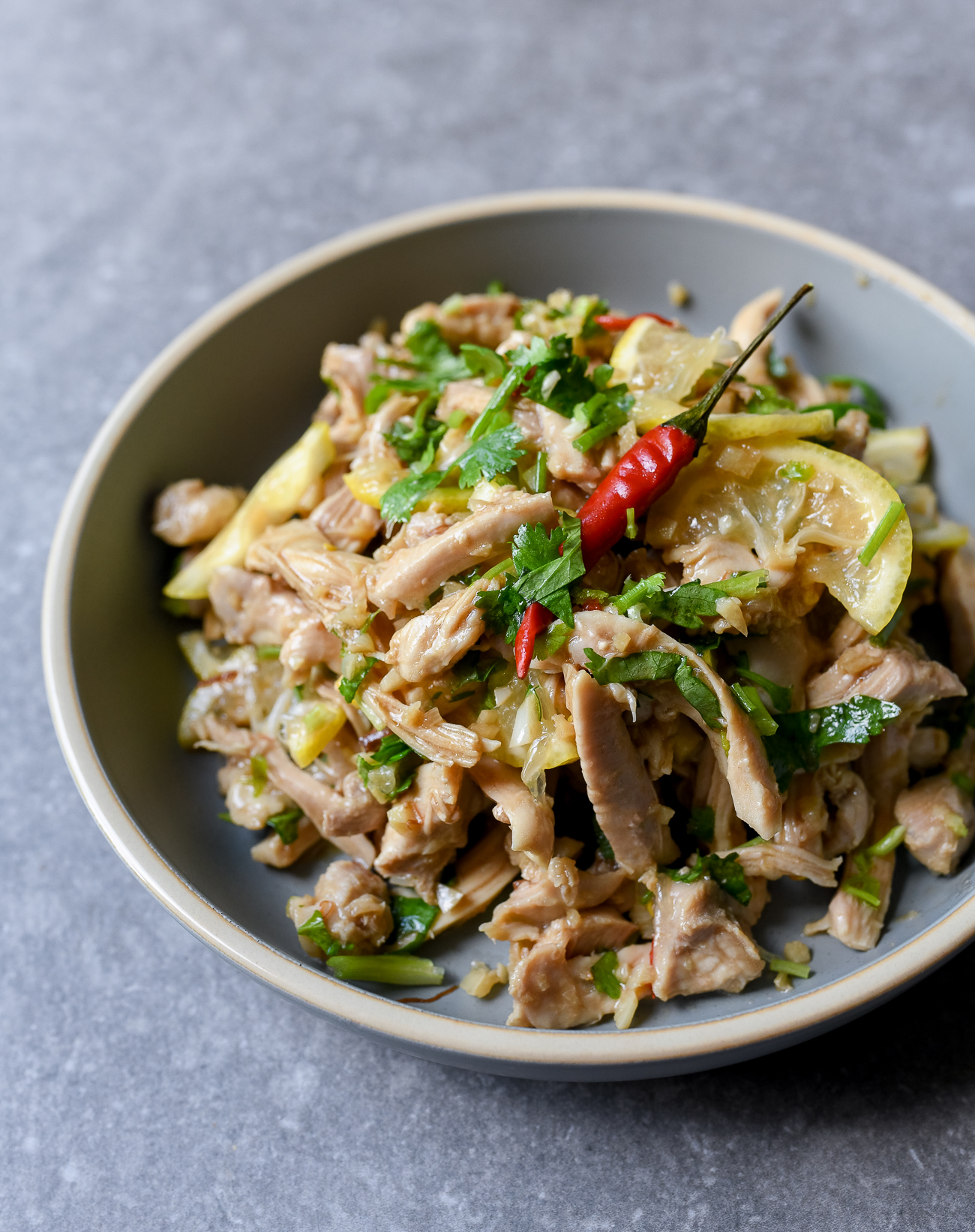 Asian Chicken Salad with Lemon