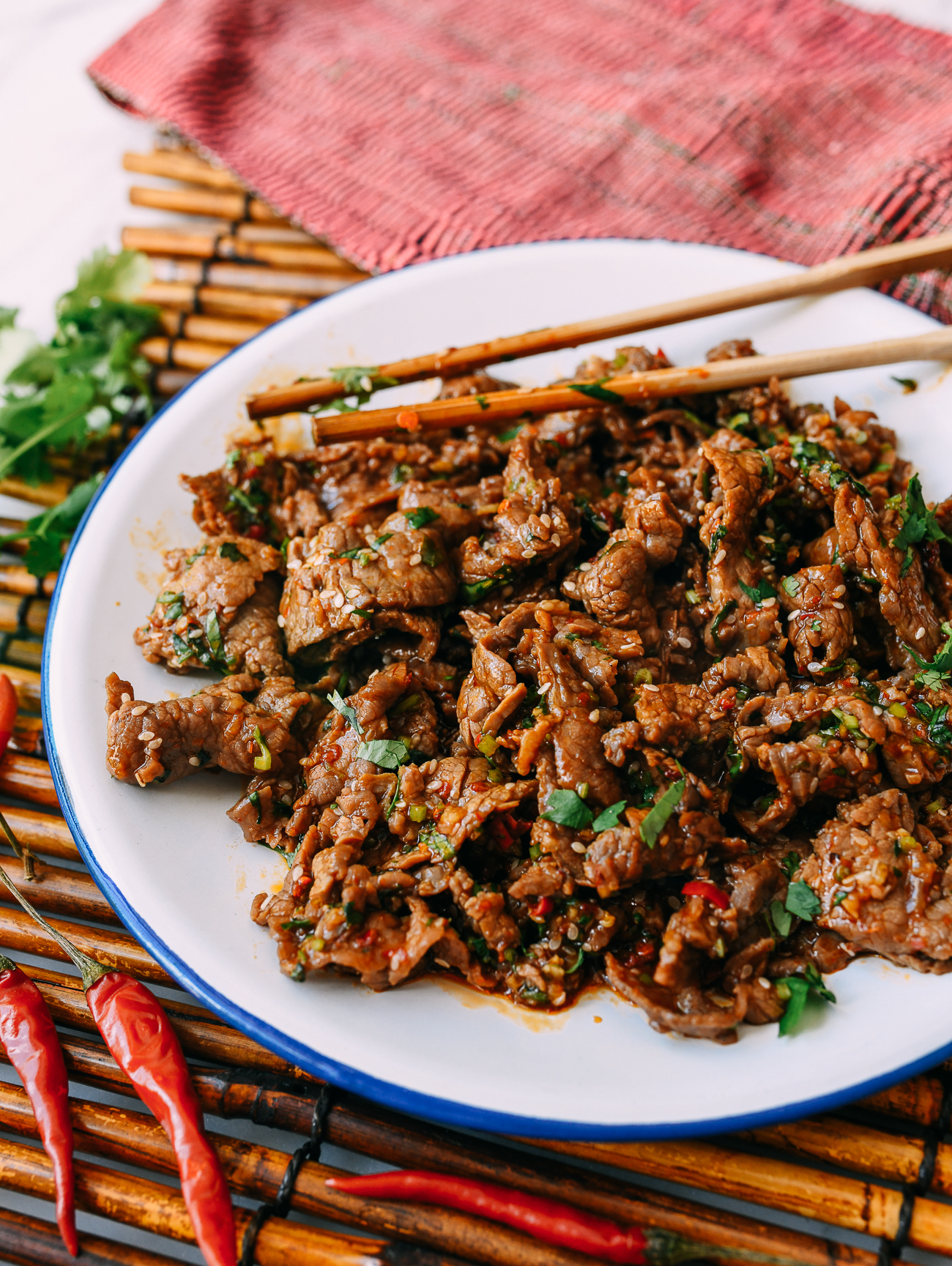 Chinese Spicy Beef Salad