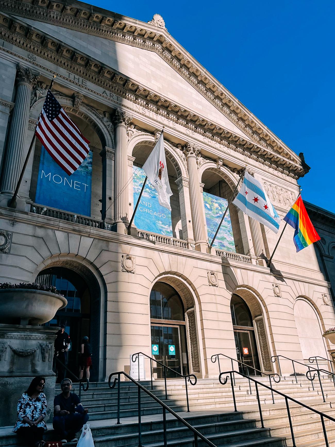 Facade of art institute of chicago