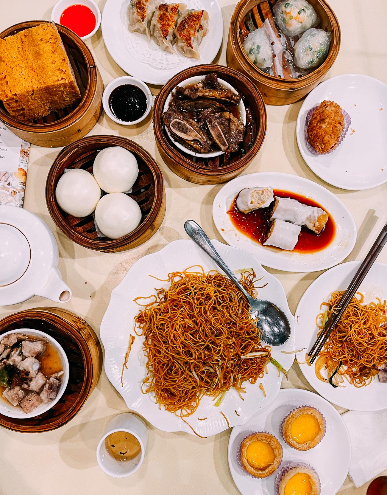 Dim Sum Spread at MingHin Cuisine in Chicago Chinatown