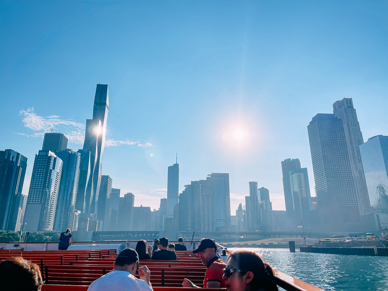 Sunny Day on Chicago Architecture Boat Tour