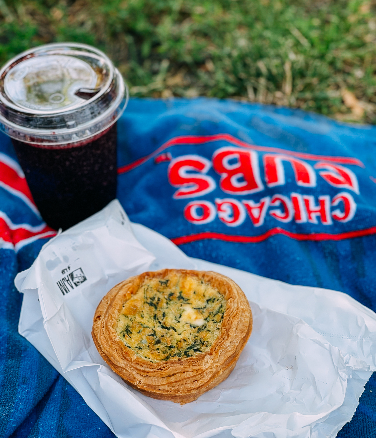 Quiche and Blueberry Smoothie in Chicago