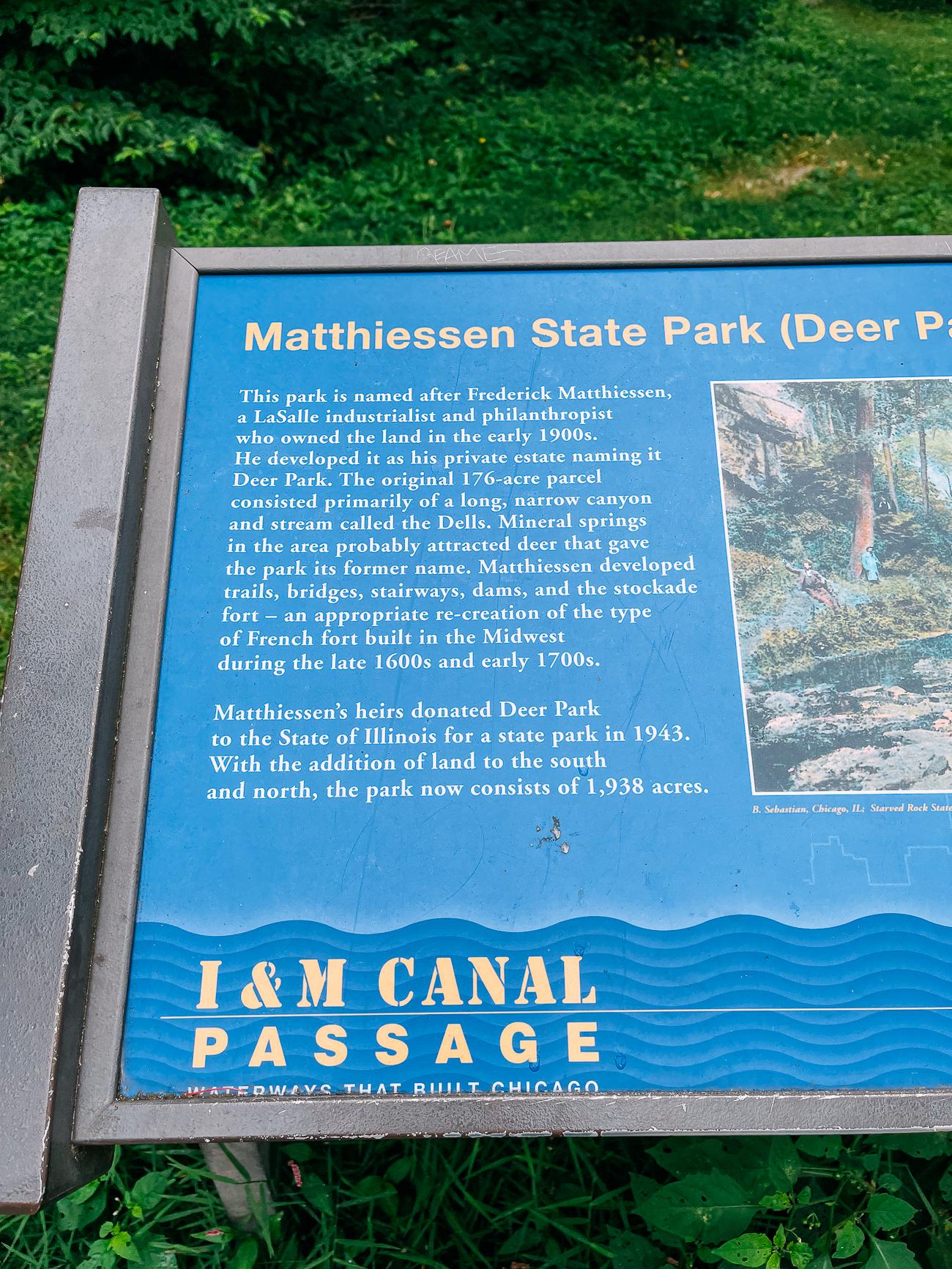 Matthiessen State Park Sign