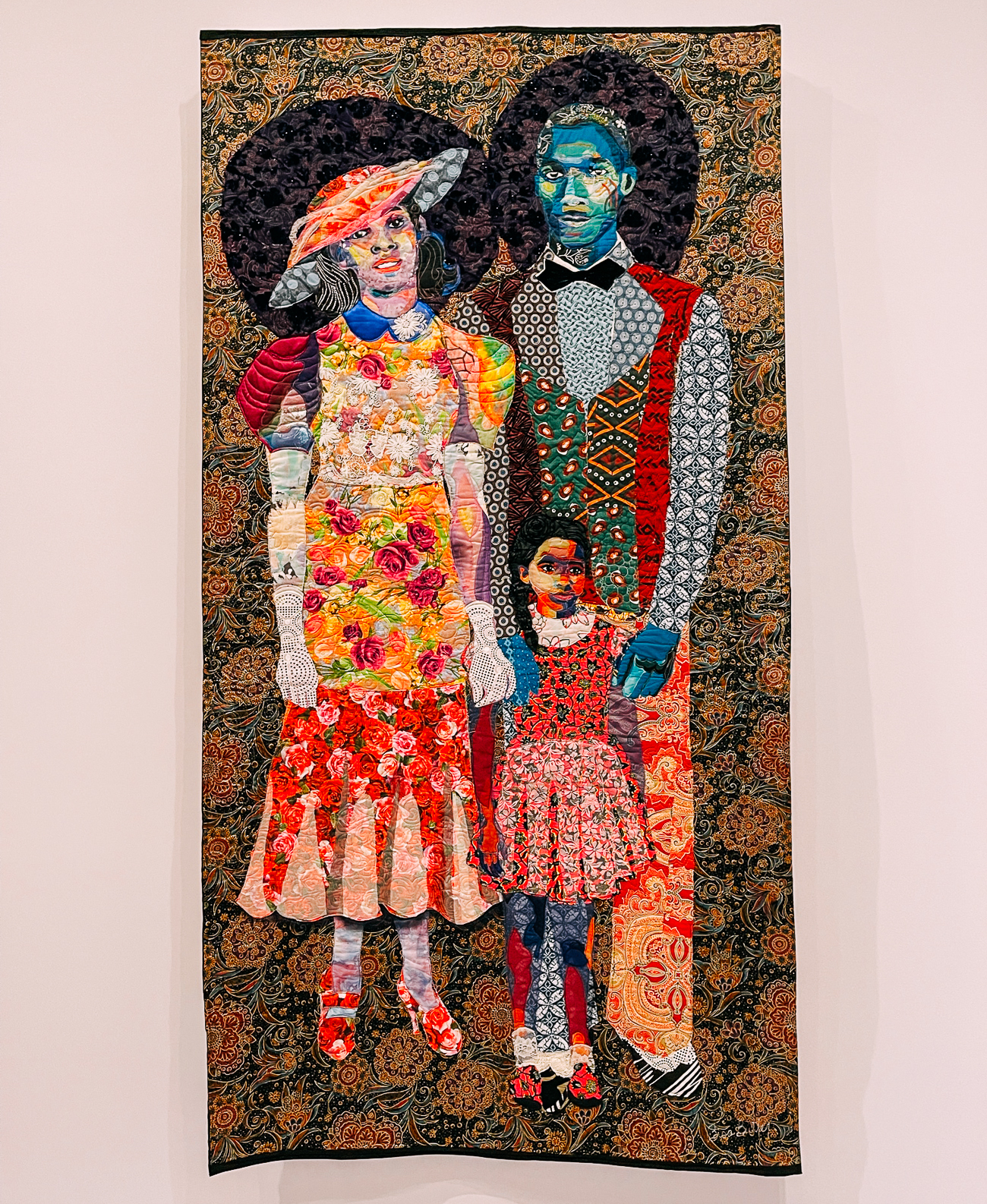 Bisa Butler Quilt Portraits on display at Art Institute of Chicago