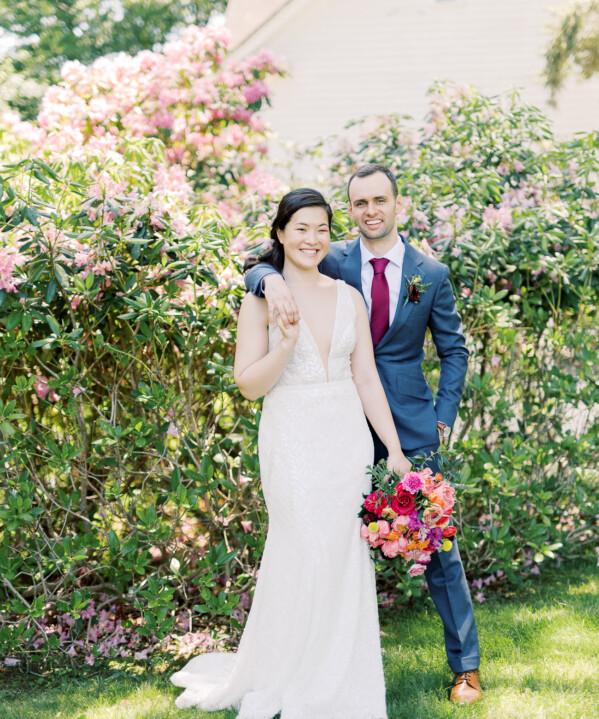 Sarah & Justin on Wedding Day
