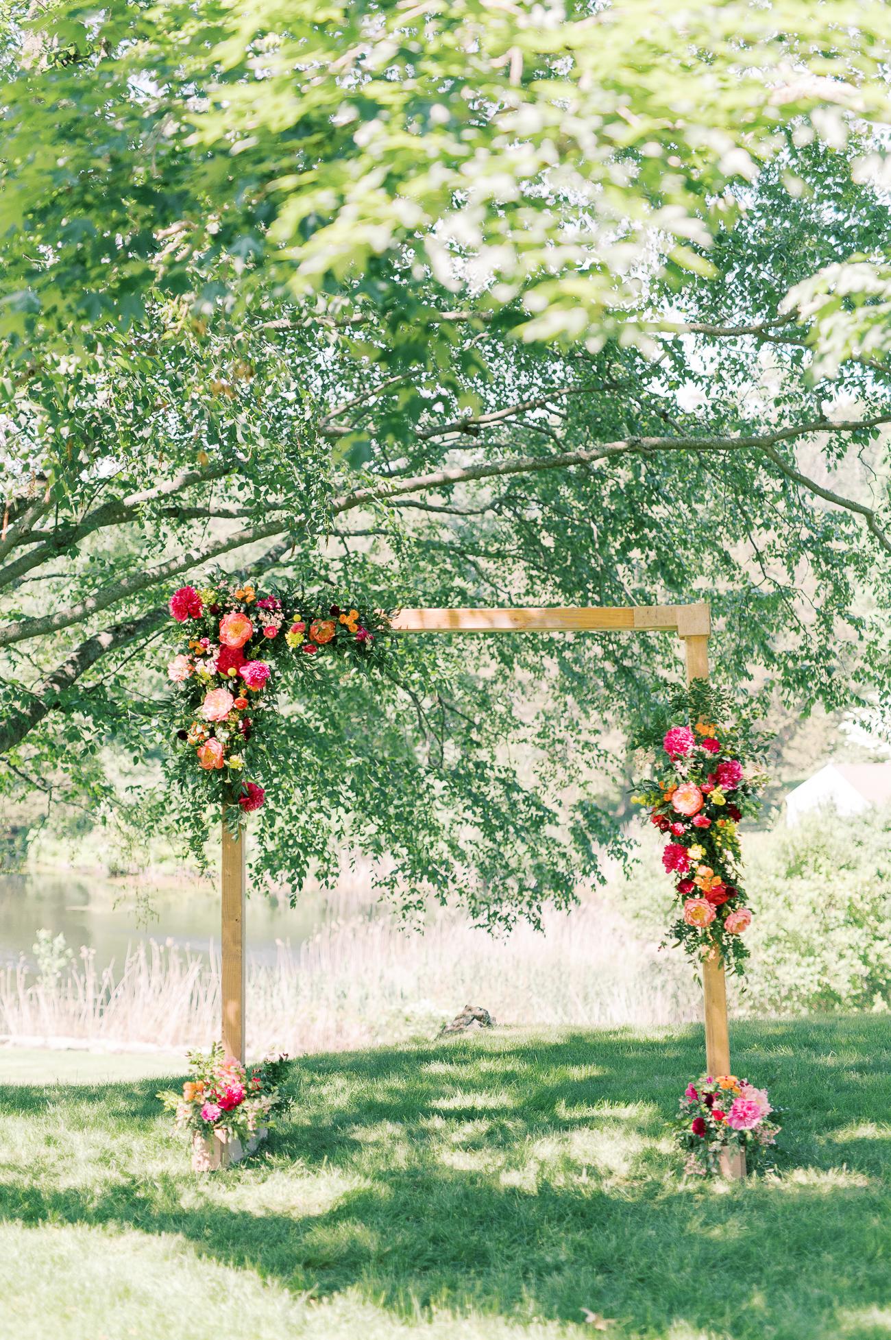 Sarah and Justin's wedding arch