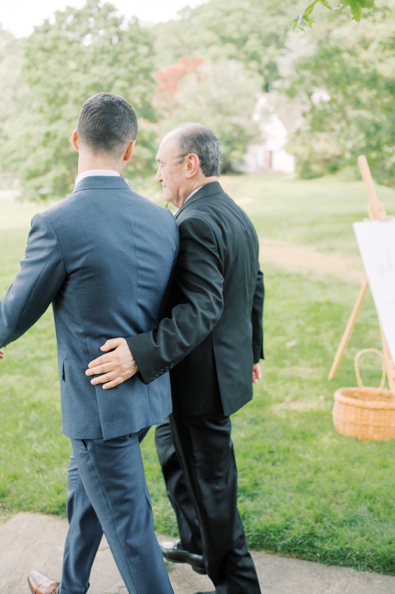 Justin and his dad walking down the aisle