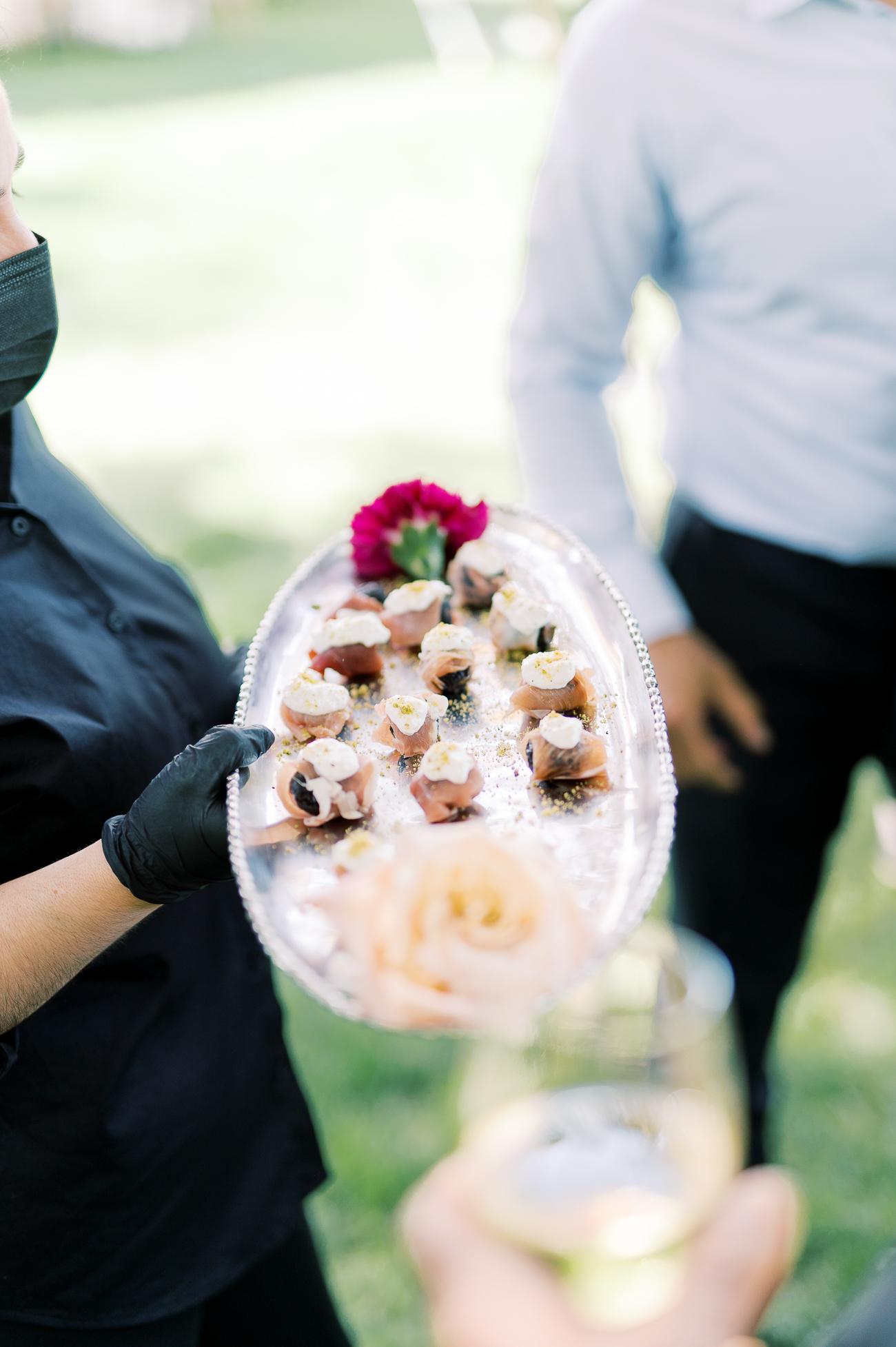 Figs wrapped in prosciutto with burrata