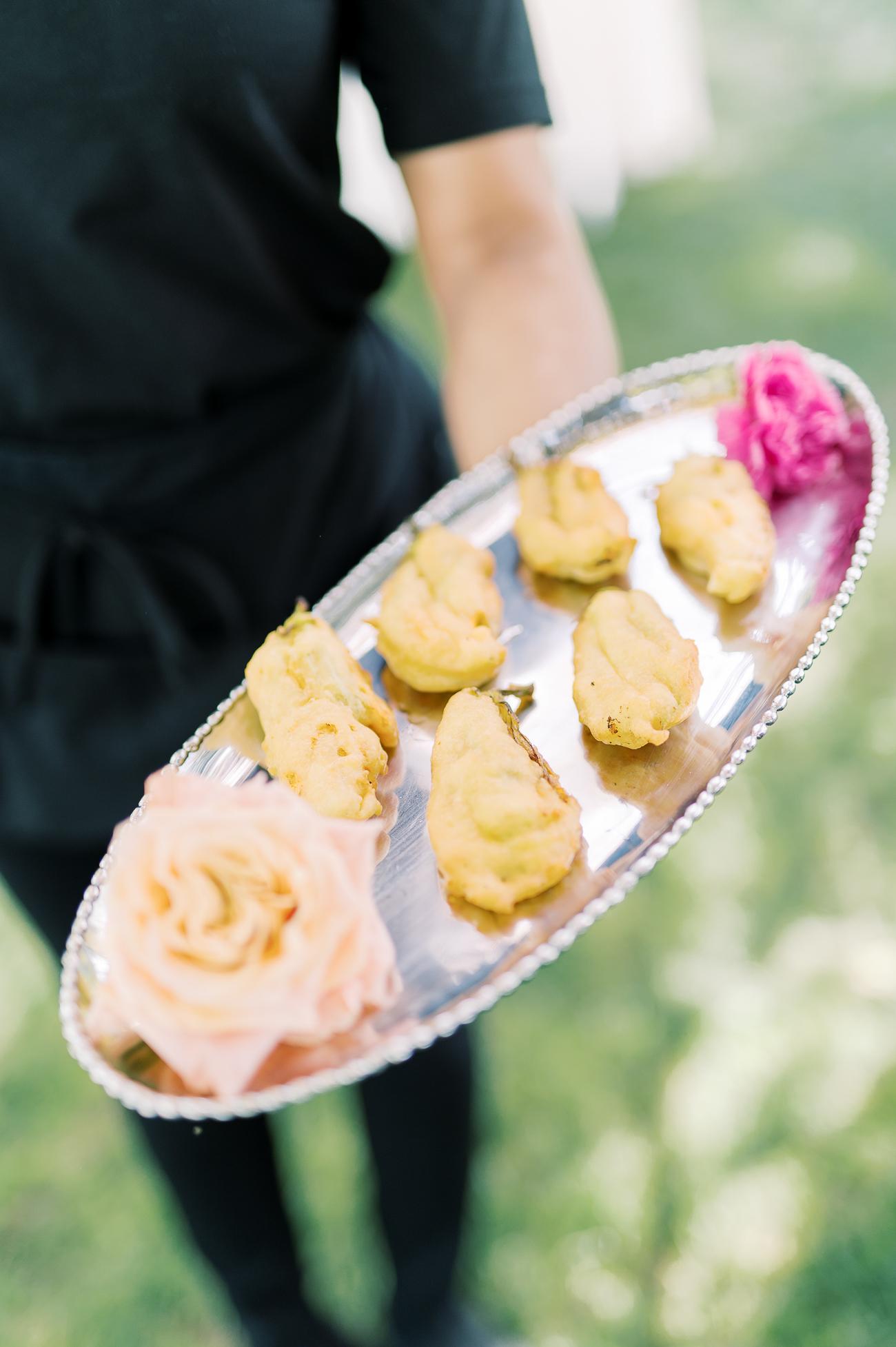 Chevre-stuffed Zucchini Blossoms