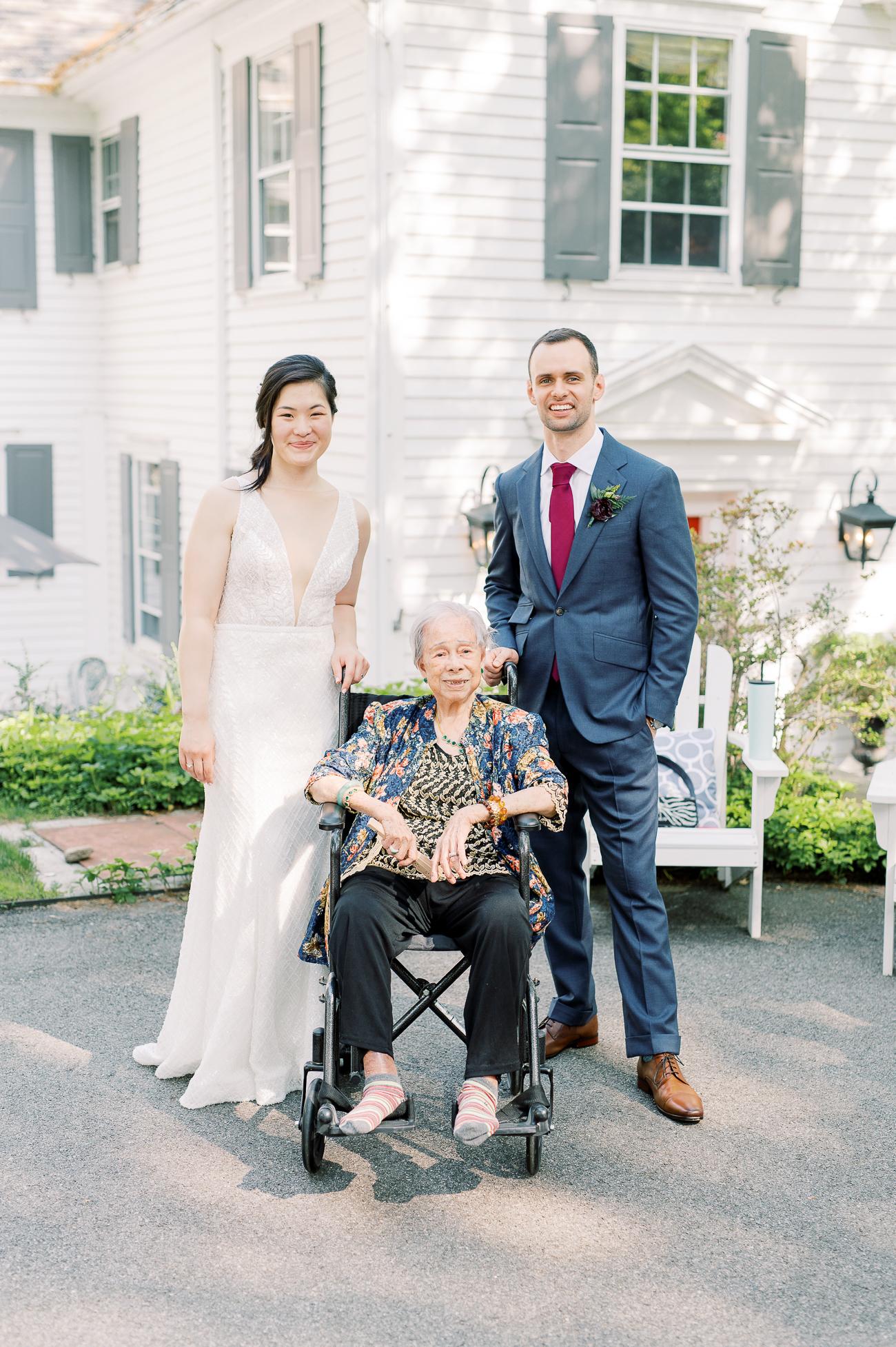 Sarah and Justin with Sarah's great grandma