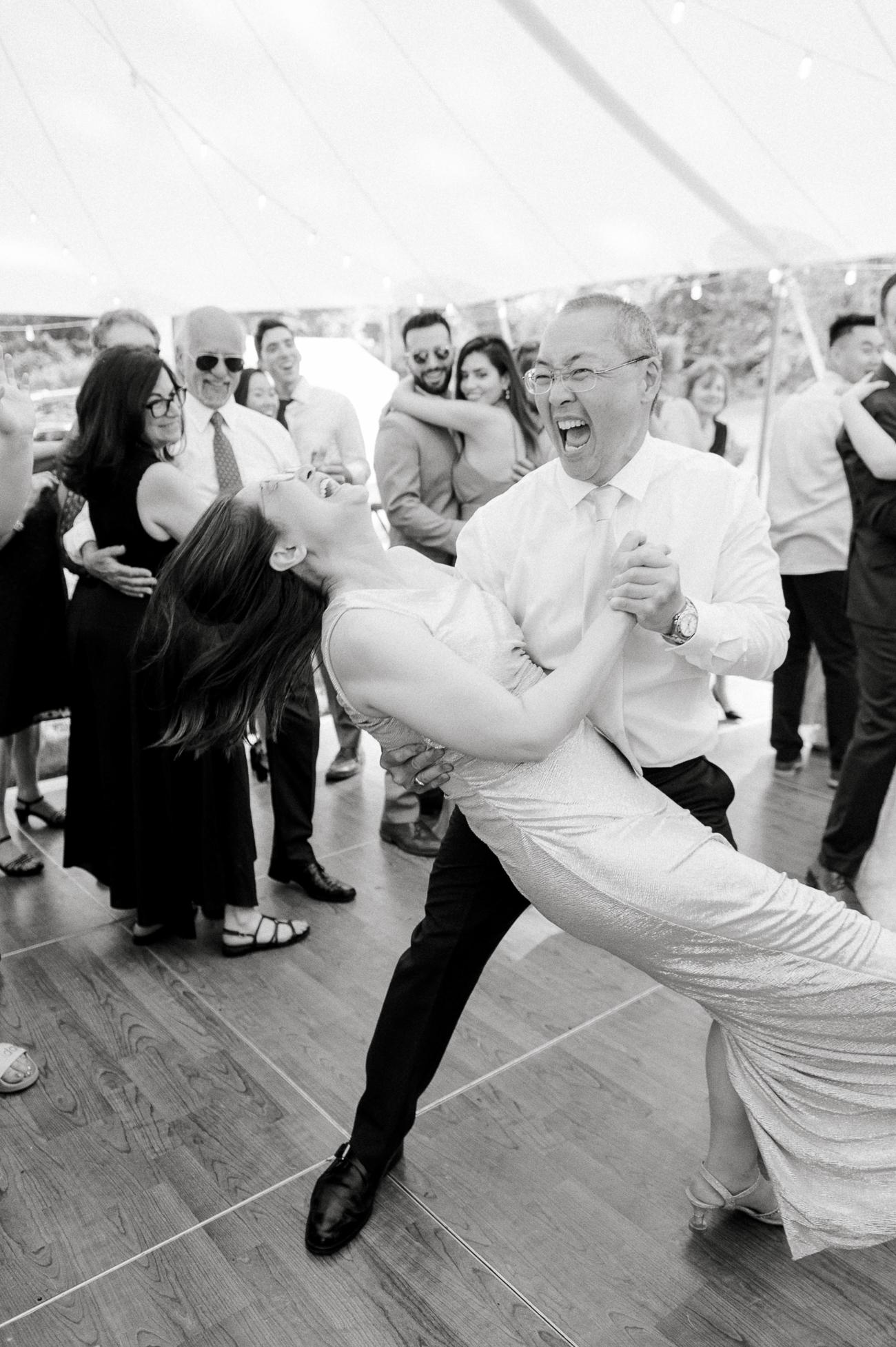 Bill dipping Judy on the dancefloor