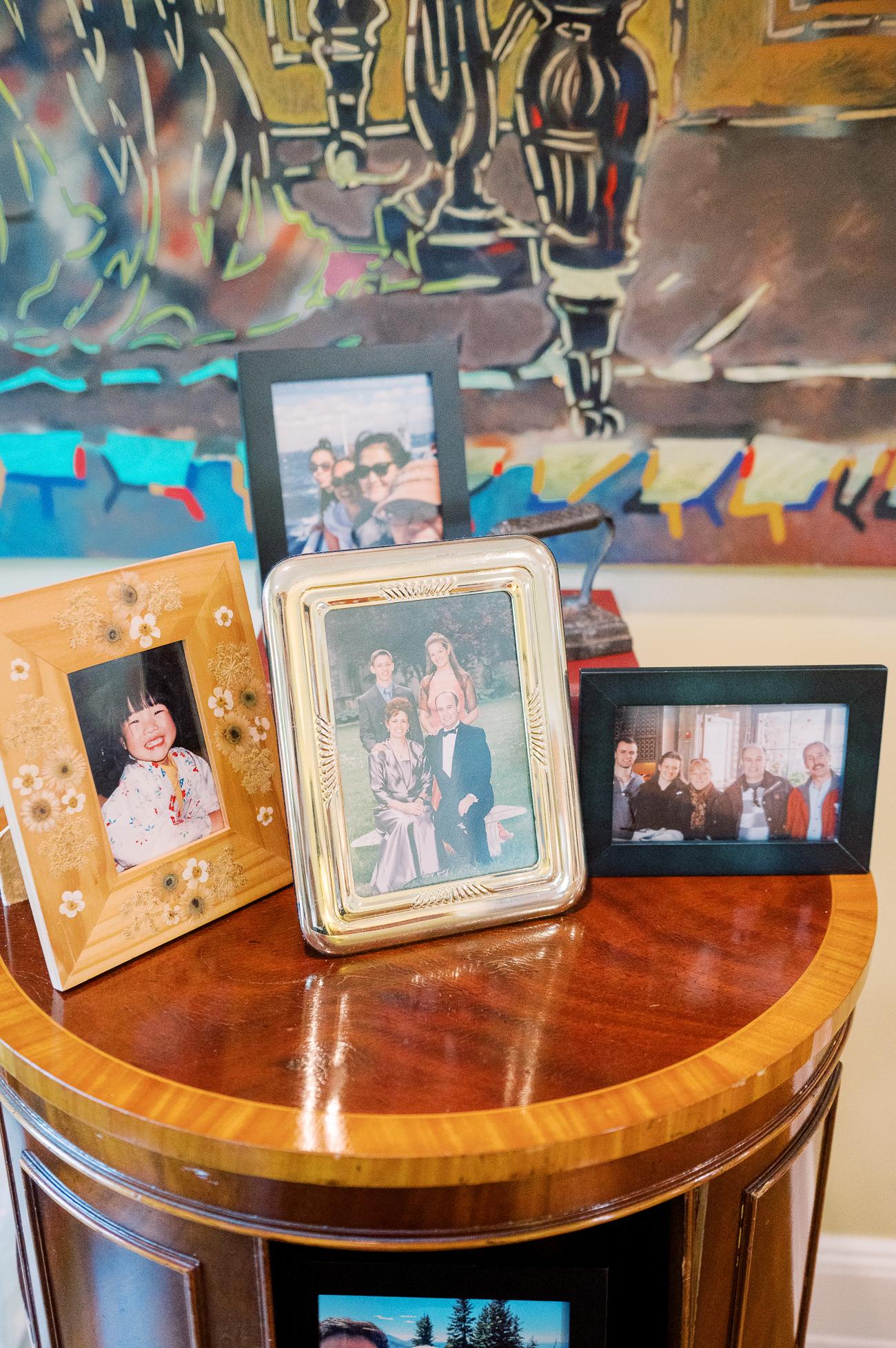 Family Photos on Table
