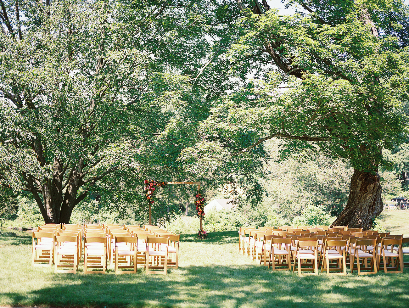 Sarah and Justin's wedding ceremony site