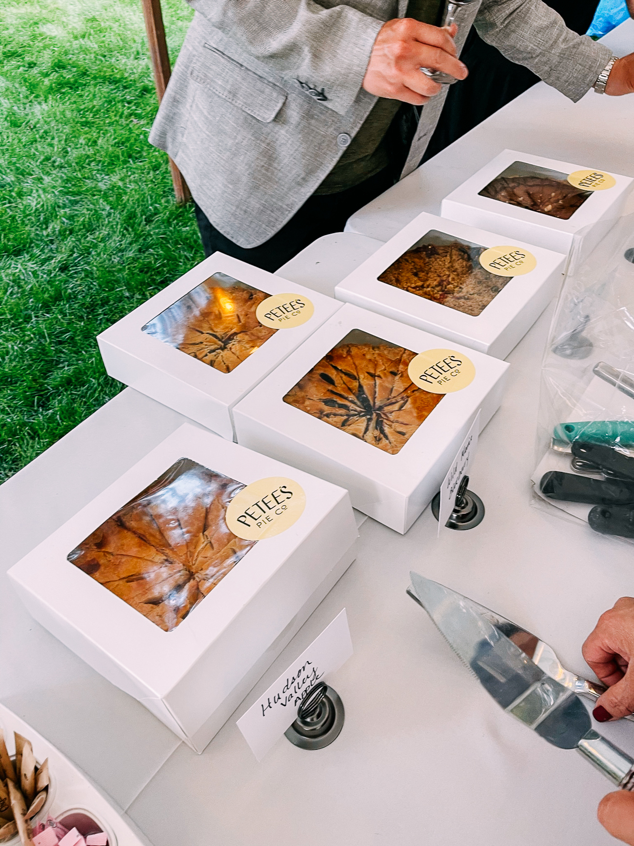 Petee's Pies in boxes
