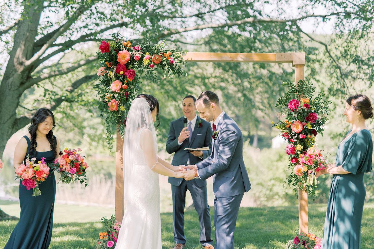 Sarah and Justin wedding ceremony