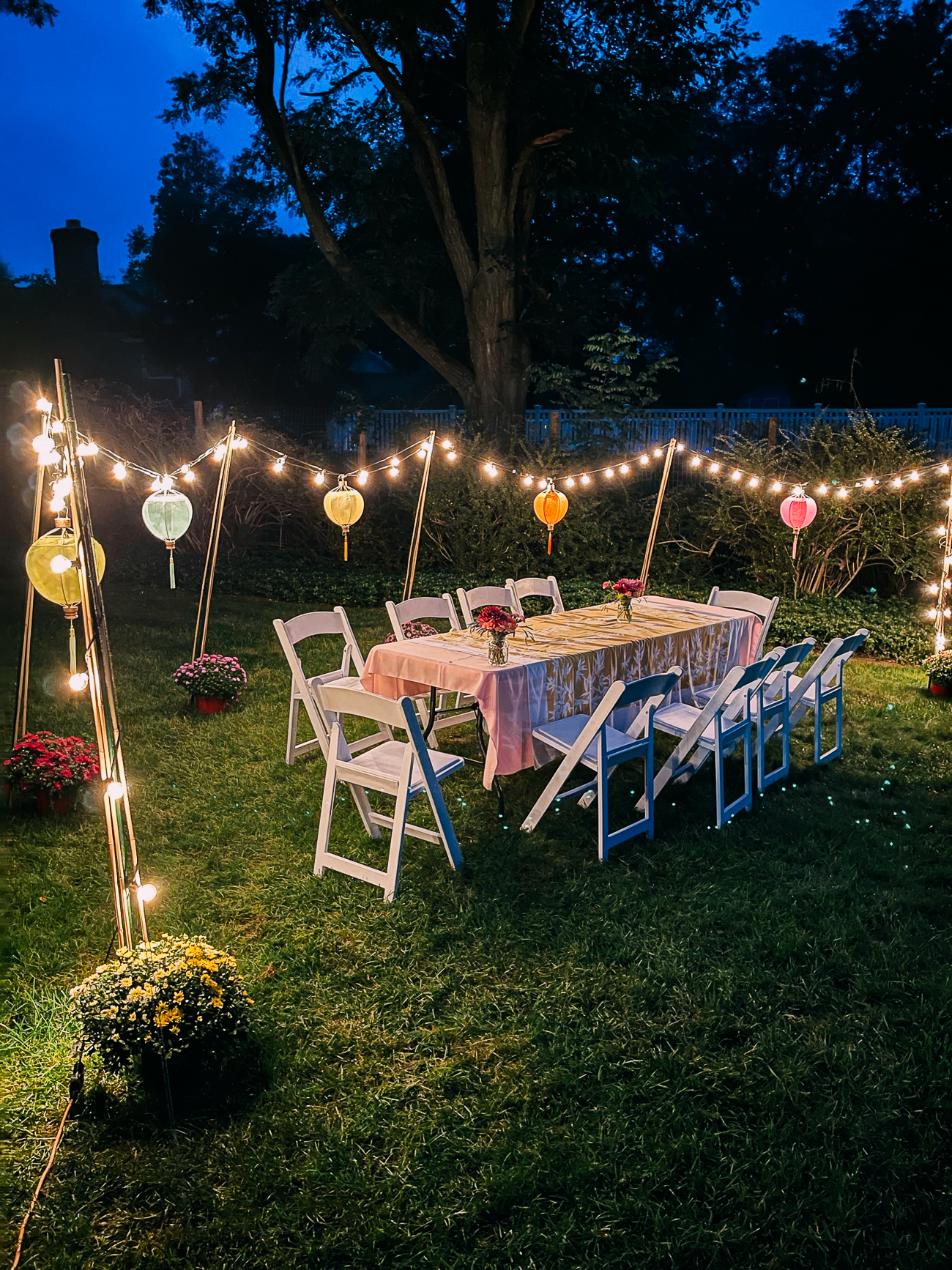 Outdoor Mid-Autumn Festival Table