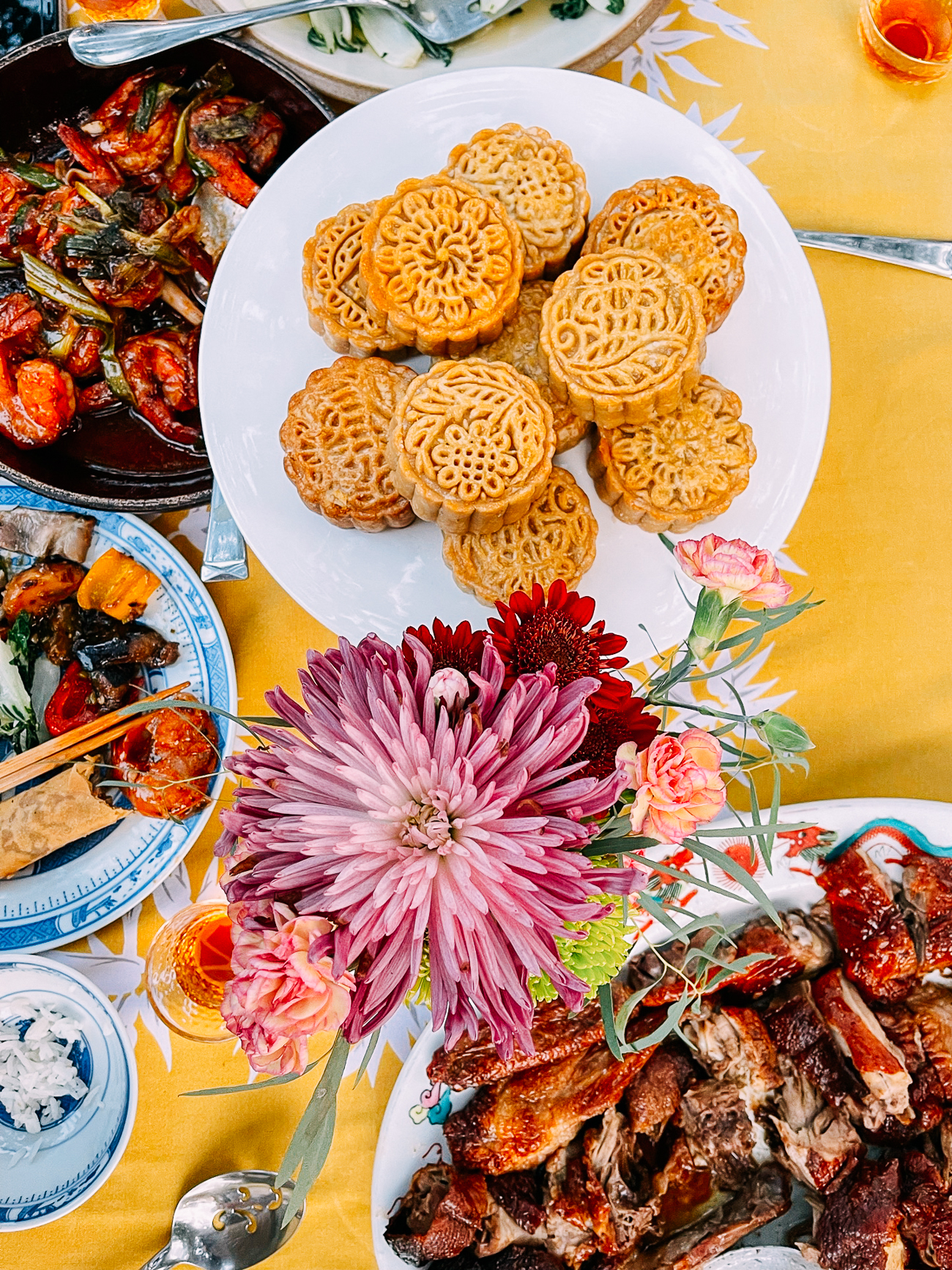 Mooncakes and Mid-Autumn Festival Dinner