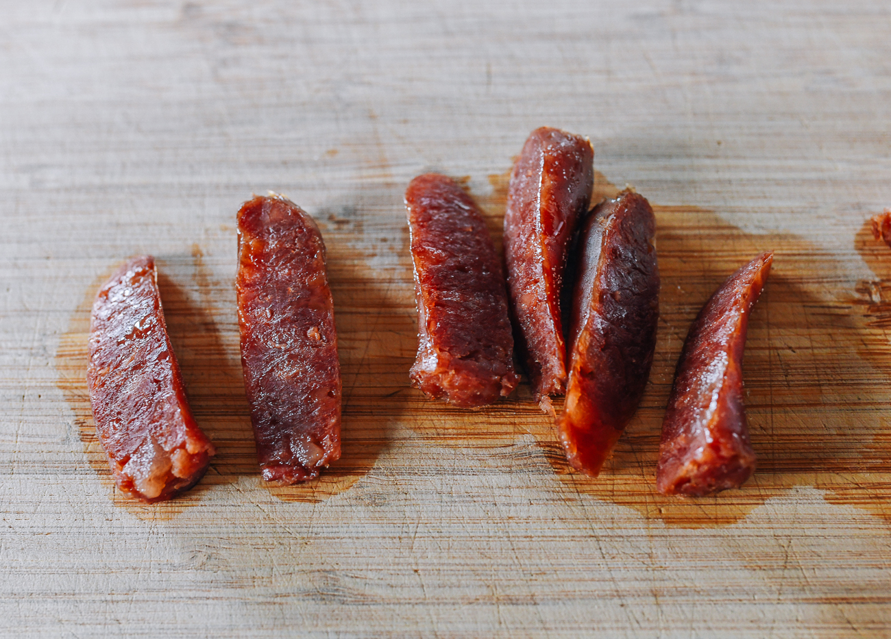 Slicing Chinese Sausages