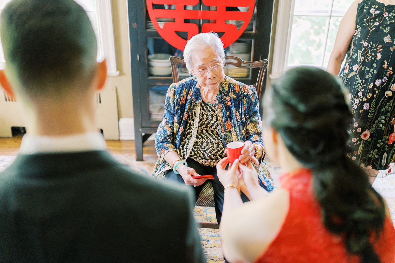 Great grandmother at Chinese tea ceremony