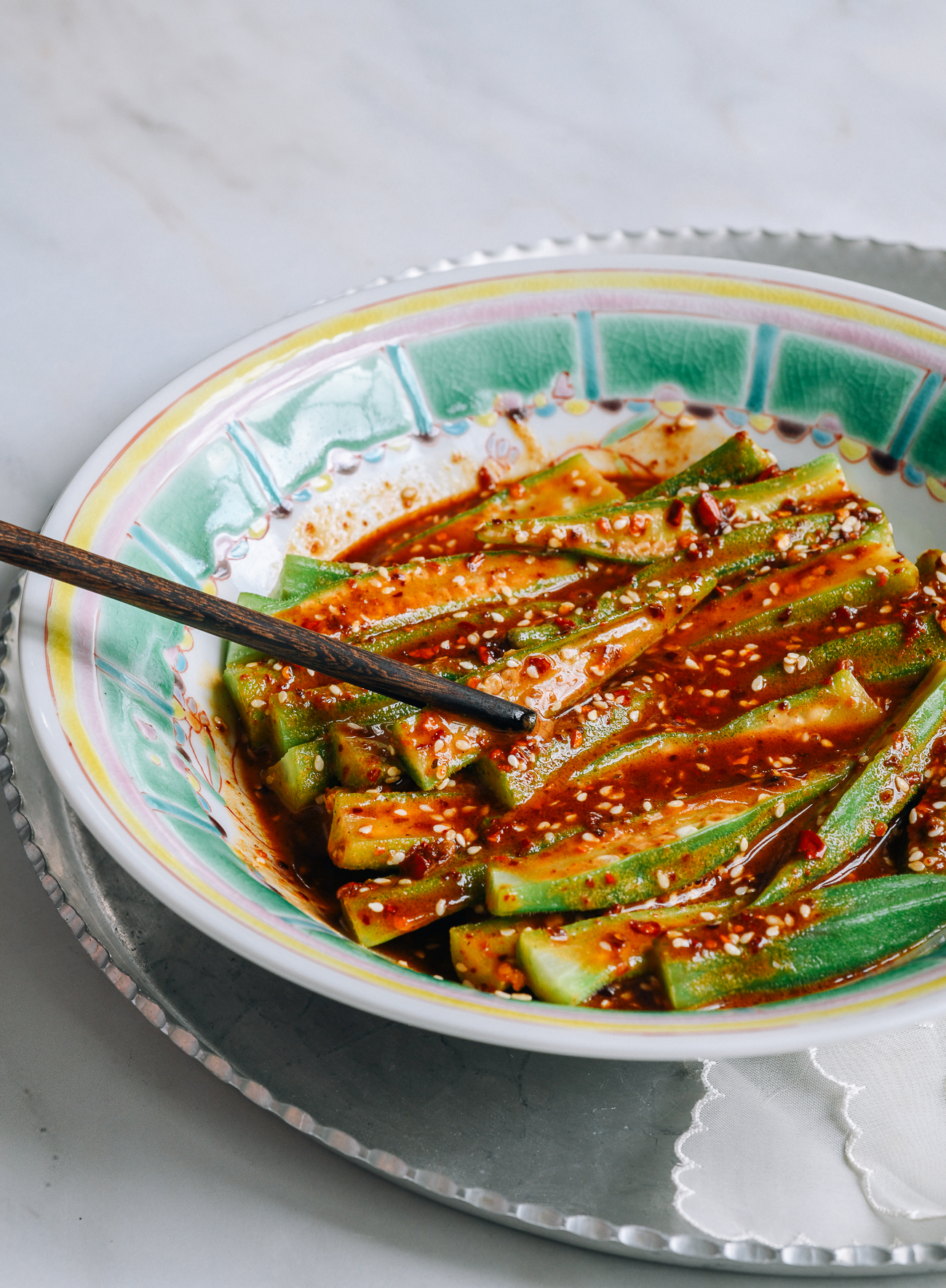 Sichuan Spicy Okra Salad