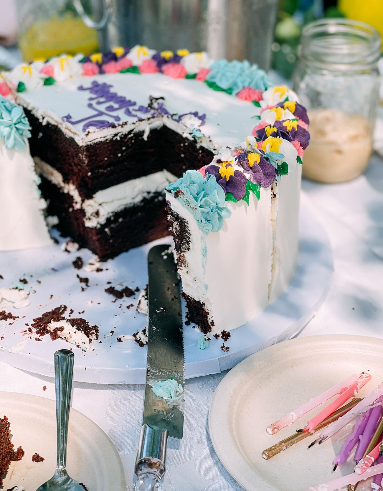 Jennifer's birthday cake