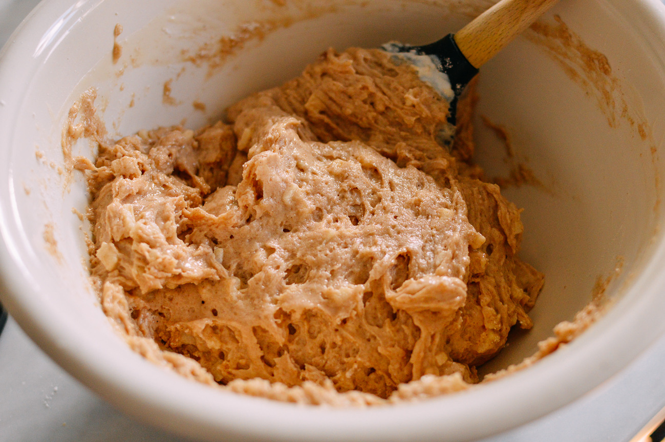 Apple cinnamon coffee cake batter